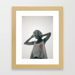 if you're going to break my heart then please just do it fast Framed Art Print