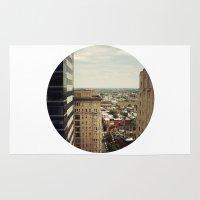 philadelphia Area & Throw Rugs featuring Philadelphia  by Kameron Elisabeth