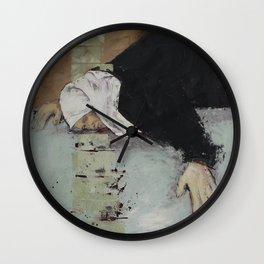 Woman in Black Wall Clock