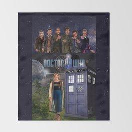 7 Doctors 5 Throw Blanket