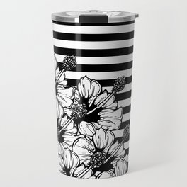 Hand Drawn Hibiscus Travel Mug