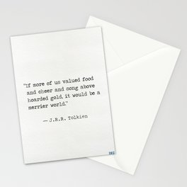 J.R.R. quote Stationery Cards