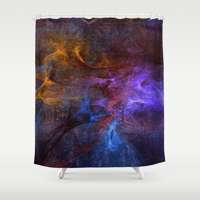 Modern Abstract With Artistic Textures And Structures Shower Curtain