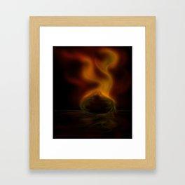 Burning ember Framed Art Print
