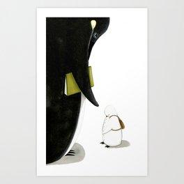 Il pinguino senza frac  Art Print