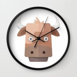 The Cow of Videos Manguis Wall Clock
