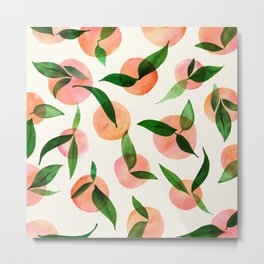 Summer Fruit Pattern Metal Print