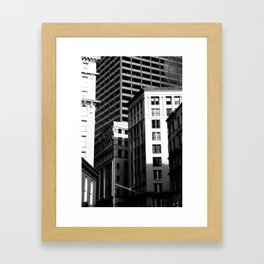 Tall Buildings Framed Art Print