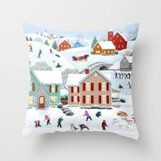 Once Upon a Winter Throw Pillow