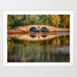 Aray Bridge - Inveraray, Scotland Art Print