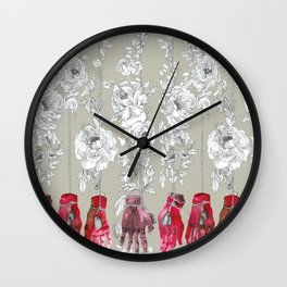Flowers and hands Wall Clock