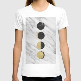 Black Moon on Marble T-shirt