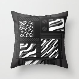 SSSTATIC Redux Throw Pillow