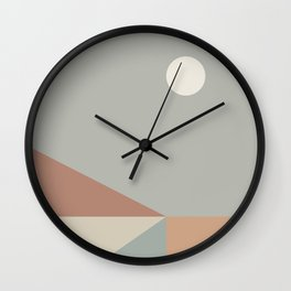 Geometric Landscape 02 Wall Clock