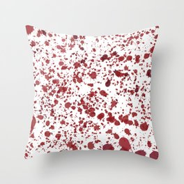Blood Spatter Throw Pillow