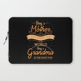 Mother Important Grandmother Having Fun Laptop Sleeve