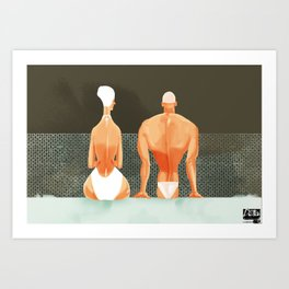 made for each other / no words Art Print