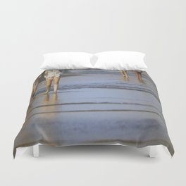 2's at the Beach Duvet Cover