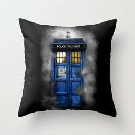 Haunted Halloween Blue phone Box iPhone 4 4s 5 5c 6, pillow case, mugs and tshirt Throw Pillow