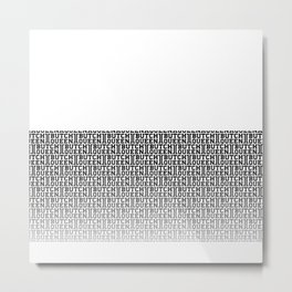BQ Fade 2 - white Metal Print