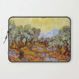Olive Trees with Yellow Sky and Sun by Vincent van Gogh Laptop Sleeve