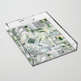 green_pattern Acrylic Tray