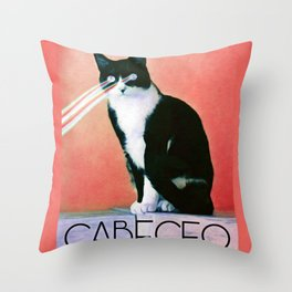 Cabeceo with Laser Cat Eyes Throw Pillow