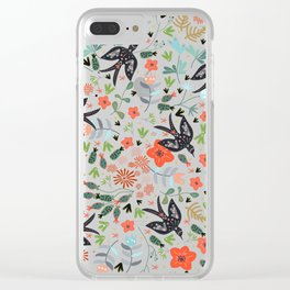 Around The Garden on Pink Clear iPhone Case