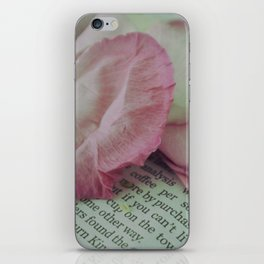 Rose Petals on Page iPhone Skin