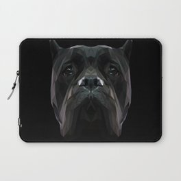 Cane Corso dog low poly. Laptop Sleeve