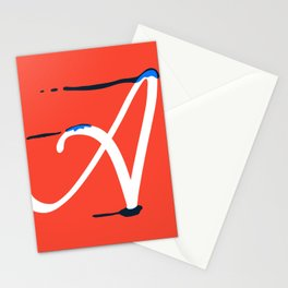 Dripping letter A Stationery Cards