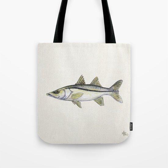 """Snook"" by Amber Marine - Centropomus undecimalis ~ Watercolor Illustration, (c) 2013 Tote Bag"