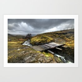 Rickety Bridge on Honiston Pass  Art Print
