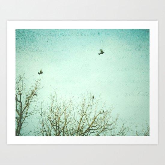 Letters of Flight Art Print