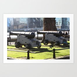 Canon at the Tower Of London Art Print