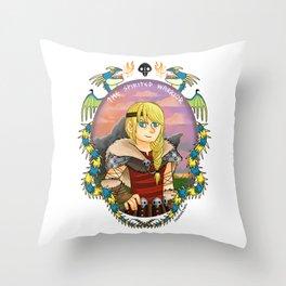 Astrid Hofferson- The Spirited Warrior Throw Pillow