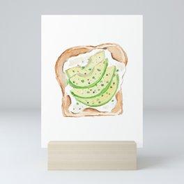 Avocado Toast Foodie Art Mini Art Print