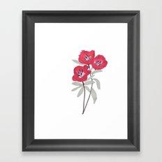 Clarkia Red Flower Framed Art Print