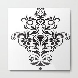 Vector Floral Image Metal Print