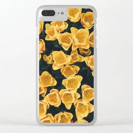 Yellow Tulips From Above Clear iPhone Case