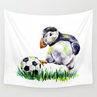football Wall Tapestries featuring Football by Anna Shell
