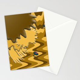 Shades of Brown Waves Stationery Cards