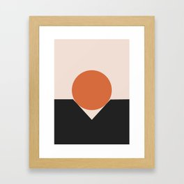 Sunset Golfing Framed Art Print