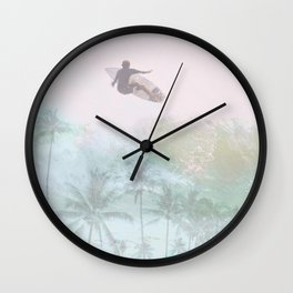 Pura Vida Surf Wall Clock