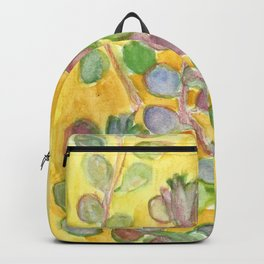 Warm and Cool, Soft Colored Succulent Backpack