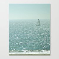 sailing Canvas Prints featuring Sailing by Catherine Holcombe