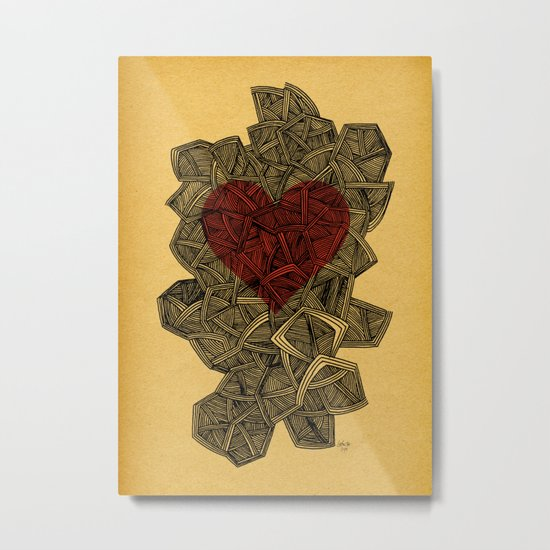 - heart line - Metal Print