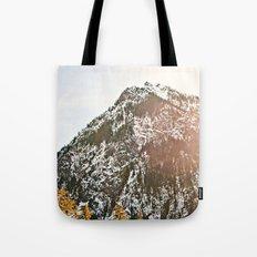 Snowy Mountain Peak in the Sun Tote Bag