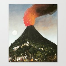 Ceremony at the Volcano Canvas Print
