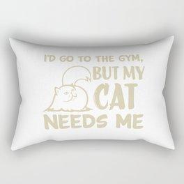 My Cat Needs Me Rectangular Pillow